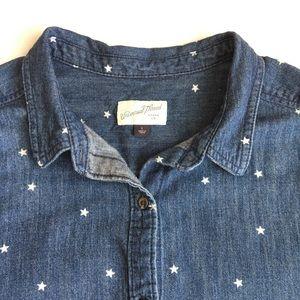 Universal Thread   Denim Star button top